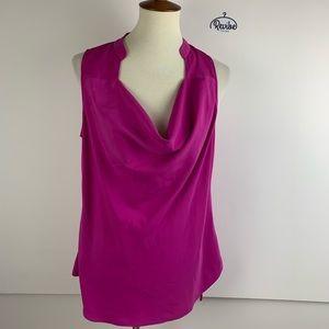 Cynthia Steffe Pink Draped Neck Blouse Top D1430